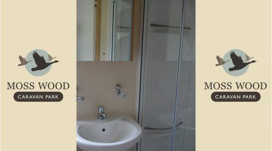 Bathroom of Pemberton Elite Caravan at Moss Wood Caravan Park