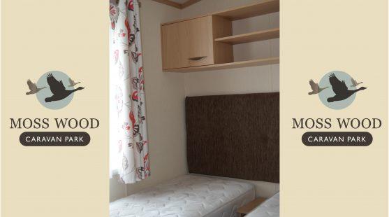 Twin bedroom of Pemberton Elite Caravan at Moss Wood Caravan Park