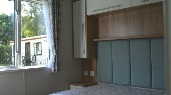 Double Bedroom of Willerby Granada 2017 Caravan at Moss Wood Caravan Park