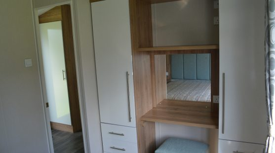 Master Bedroom of Willerby Granada 2017 Caravan at Moss Wood Caravan Park
