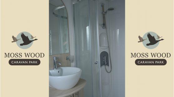 Master bedroom ensuite of Delta Glade 2013 Caravan at Moss Wood Caravan Park