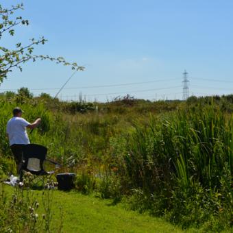 Fishing Lake at Moss Wood Caravan Park in Cockerham