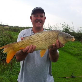 Dave 9lb Common Carp at Moss Wood Fishing Lake