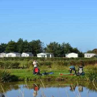 Fishing Lake at Moss Wood Caravan Park in Lancashire
