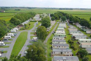 Aerial shot of Moss Wood Caravan Park