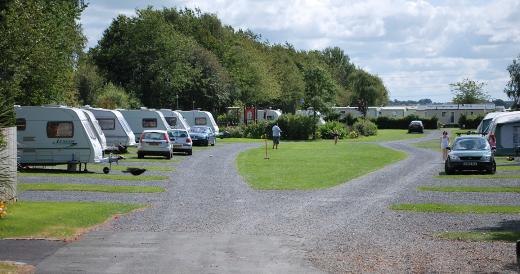 Touring caravan field at Moss Wood Caravan Park