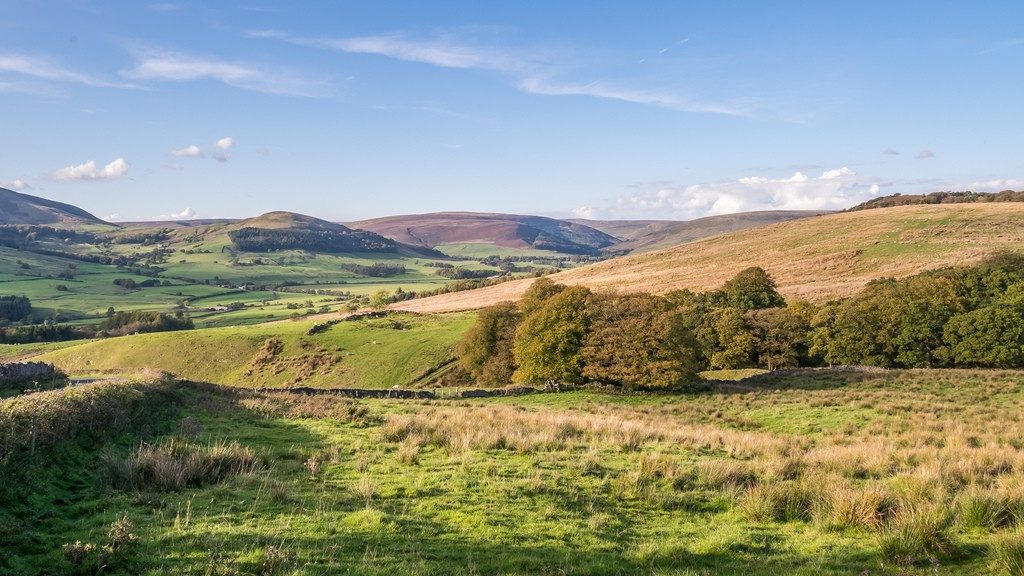 Beautiful views of Forest Bowland from Moss Wood Caravan Park