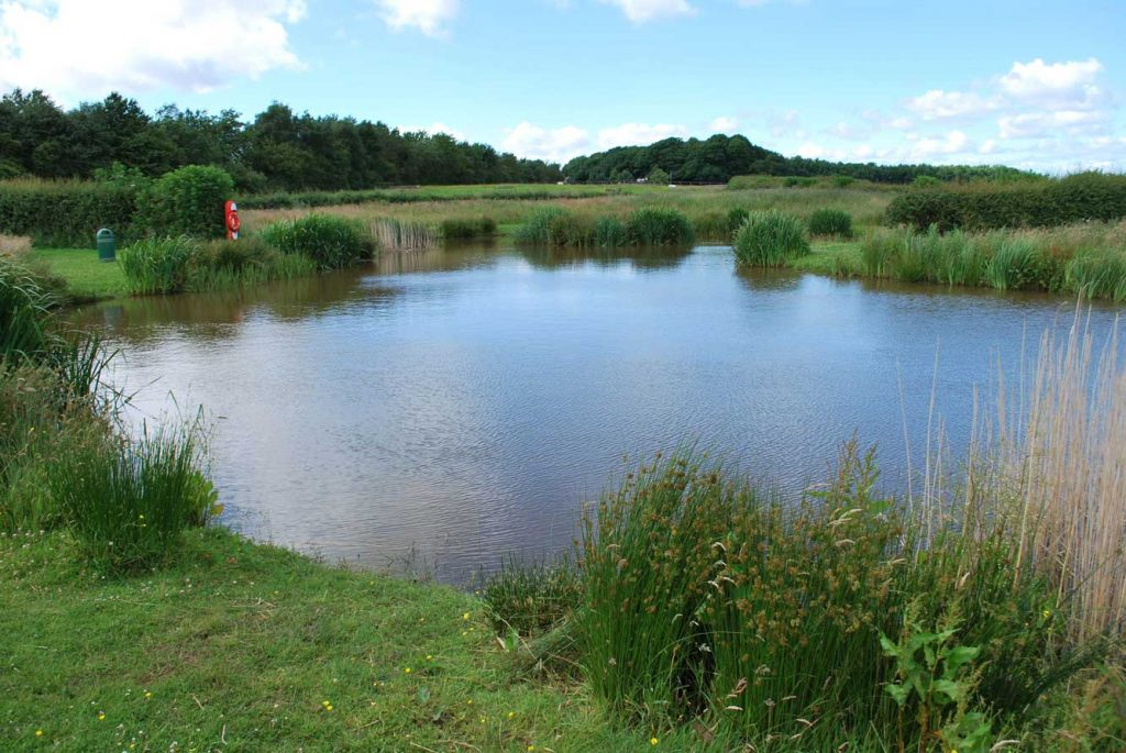 Fishing Lake at Moss Wood Caravan Park in Lancashire
