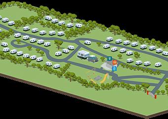 Moss Wood Caravan Park map