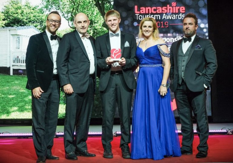 Moss Wood Caravan Park winners of Lancashire Tourism Awards 2019 Ethical Responsible Sustainable Tourism Award