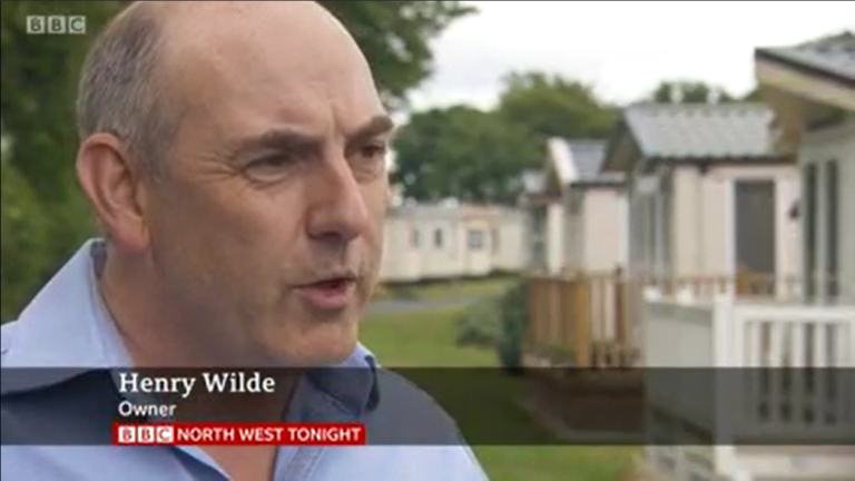 BBC News North West Tonight Covid Lockdown Holiday Parks 7th June 2020