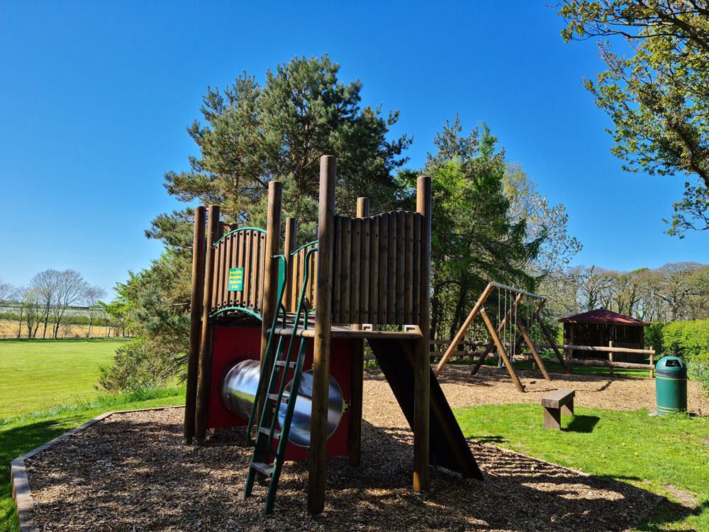childrens play area at moss wood caravan park