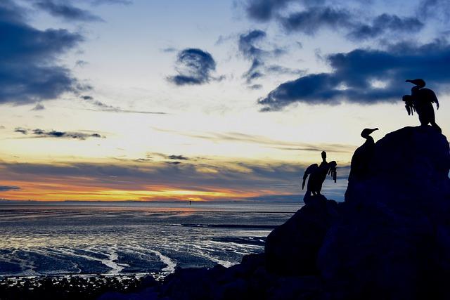 sunset at morecambe bay