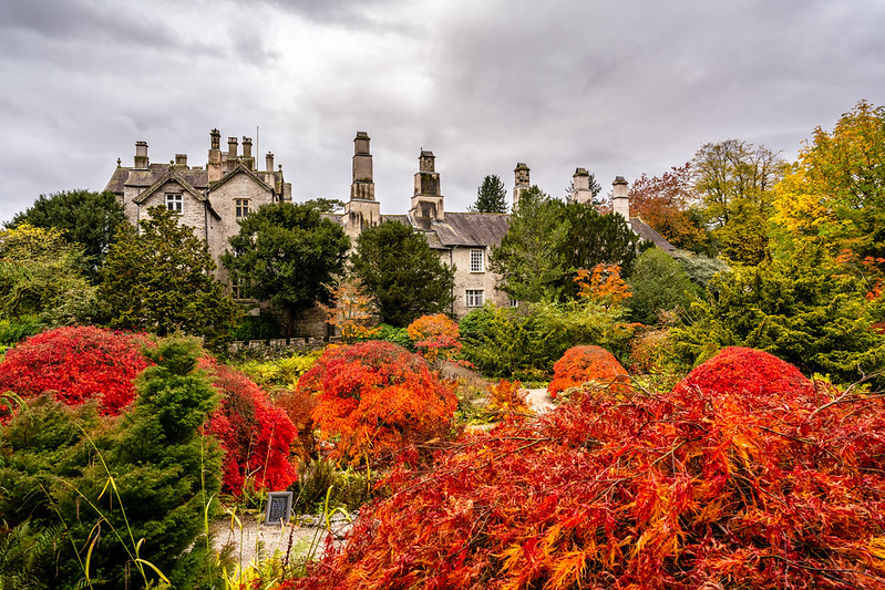 Sizergh castle and gardens in autumn